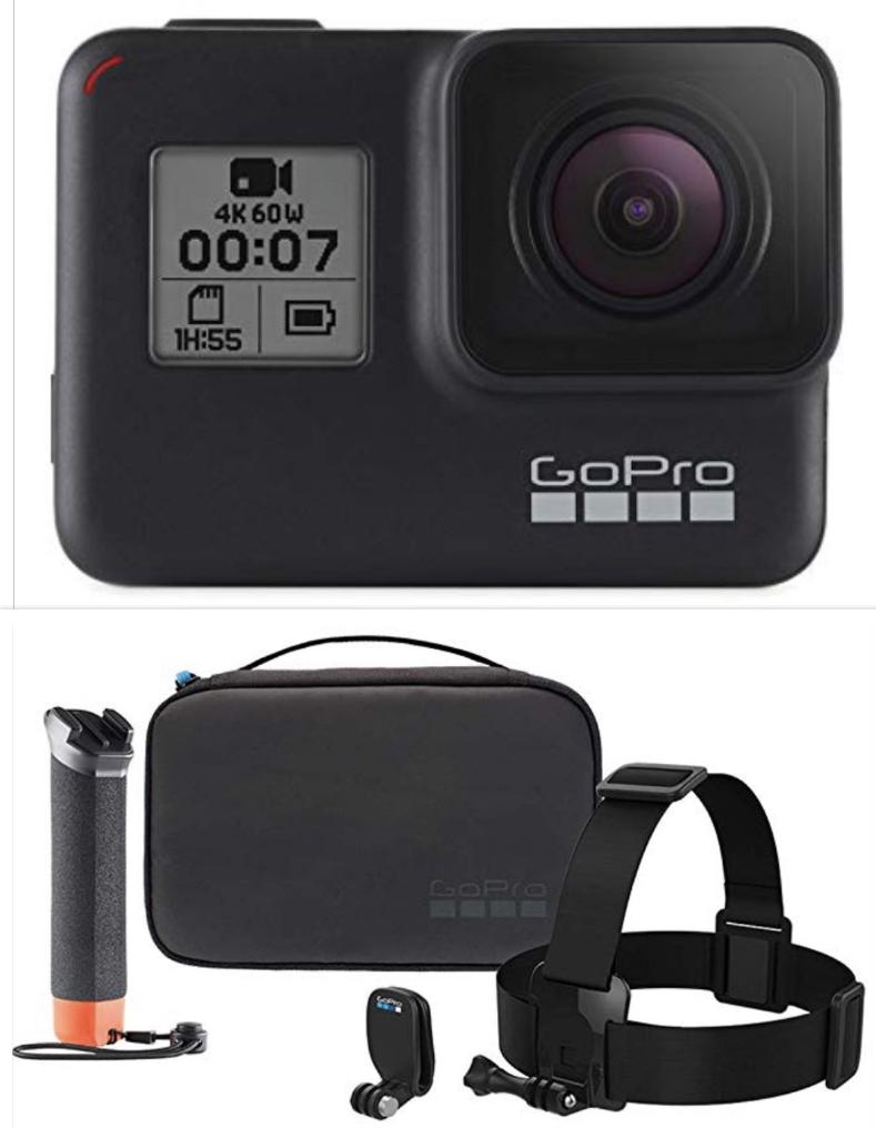 GoPro HERO7 Schwarz - wasserdichte digitale Actionkamera + Abenteuer-Kit für 323,74€ - Prime Day