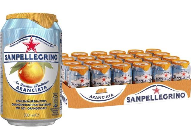 [Prime Day] San Pellegrino (verschiedenen Sorten) 24 x 0,33l Dosen