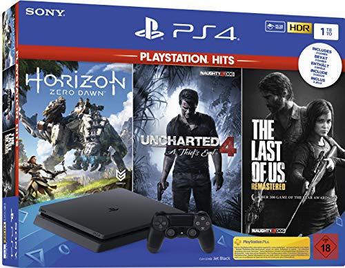 [Amazon Prime] PlayStation 4 Bundle (1TB, Slim) inkl. Uncharted 4, The Last of Us, Horizon Zero Dawn