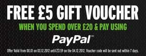 [zavvi.com] Bestellung >20 £ mit PayPal zahlen & 5 £ Gutschein erhalten.