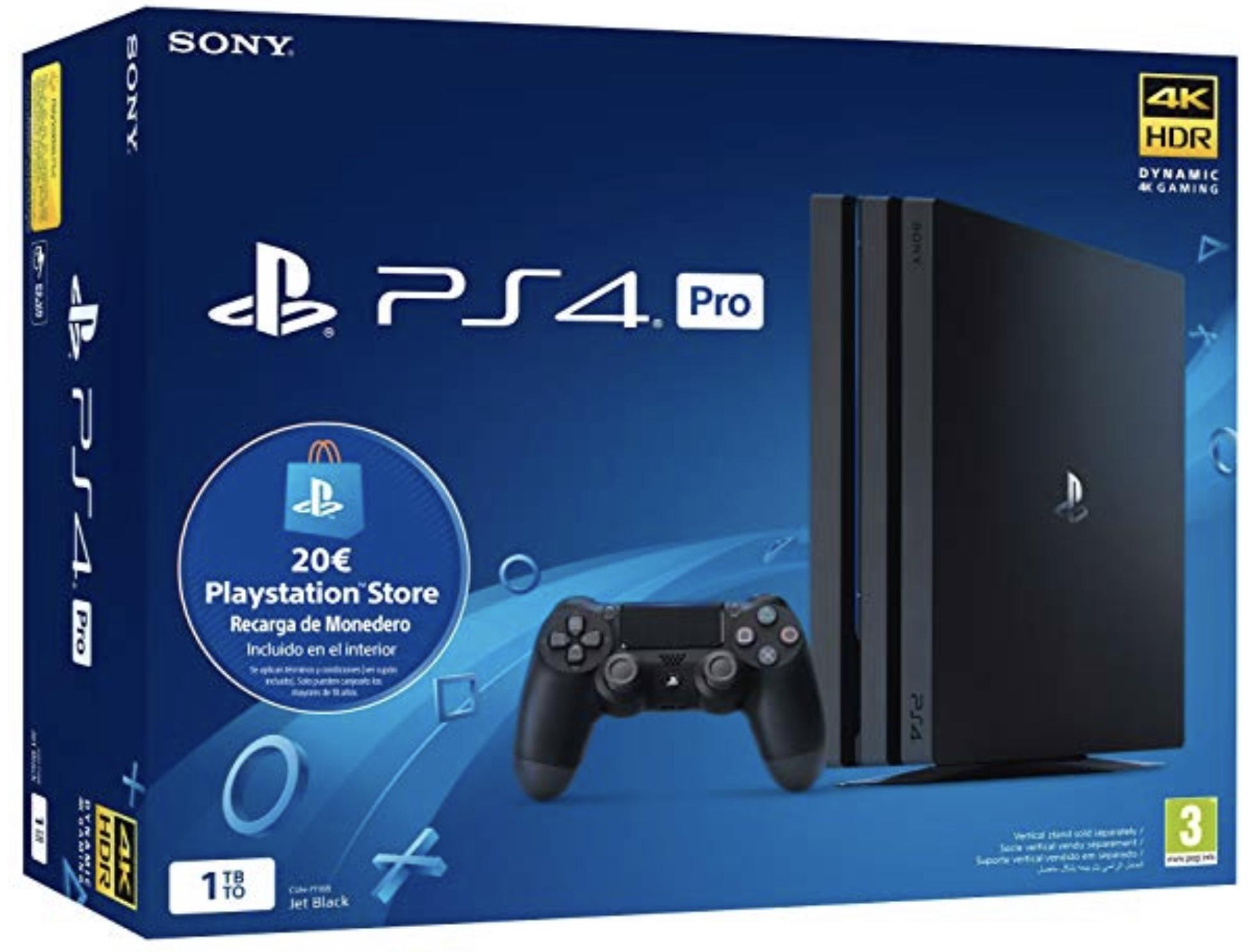 Sony Playstation 4 Pro + 20€ Playstation Store Guthaben für 318,43€ inkl. Versandkosten - Prime Day Amazon ES
