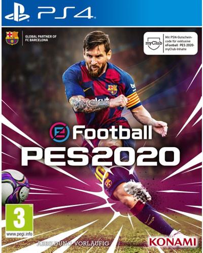 eFootball PES2020 (Pro Evolution Soccer 2020) für die PS4 (VÖ: 10.09.2019)