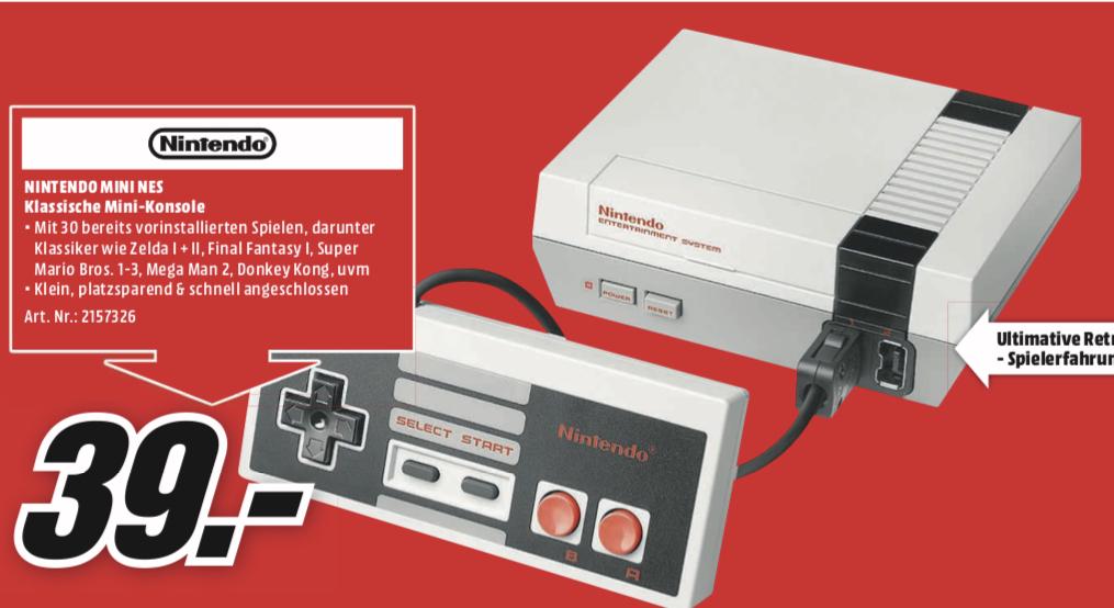 [Lokal: Media Markt Bad Kreuznach] Nintendo Classic Mini NES | JBL Xtreme Bluetooth Lautsprecher @129€ | Resident Evil 2 Remake PS4/XBO @29€