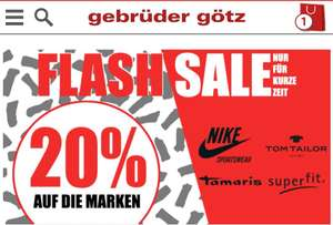 Flash-Sale 20% auf Nike, Tamaris, Tom Tailor, superfit - Schuhe