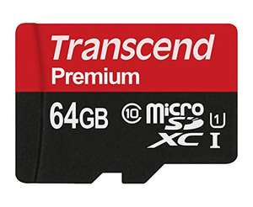 Transcend 64GB microSDXC Premium 400x UHS-I [Amazon Prime]