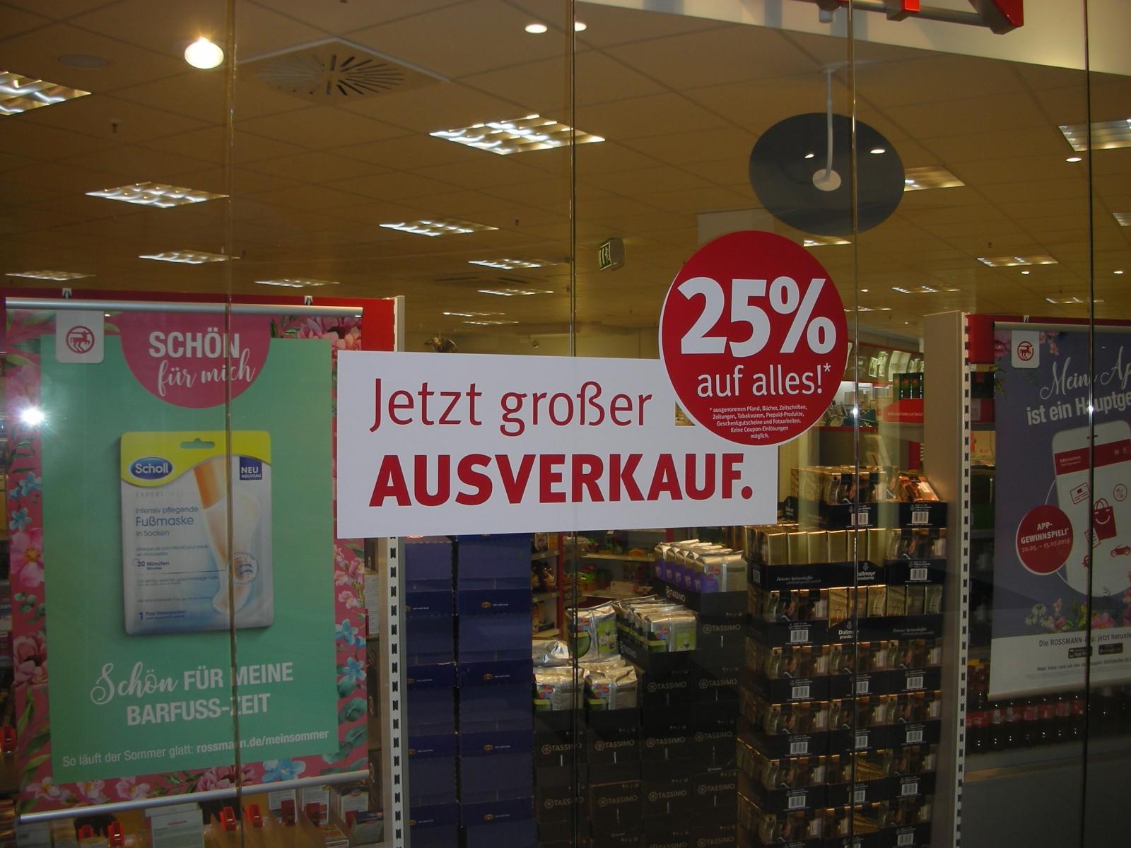 "[lokal] Gera - 25% Rabatt im Rossmann, ""Elster Forum"" Museumsplatz"