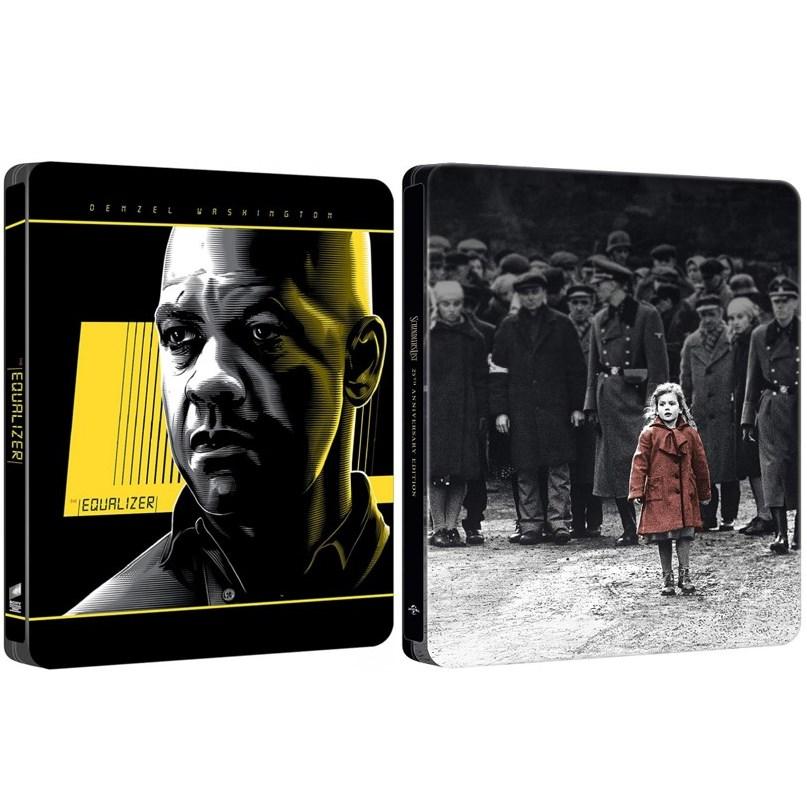 [Amazon.it] The Equalizer 4K (Blu-ray Steelbook) & Schindlers Liste 4K (Blu-ray Steelbook) für zusammen 34,37€ inkl. Versand