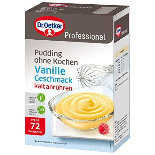 Dr. Oetker Professional Pudding ohne Kochen mit Vanille-Geschmack, 1 Kg