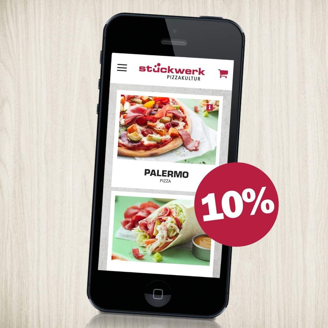 Stückwerk 10% Rabatt bei Bestellung über die App