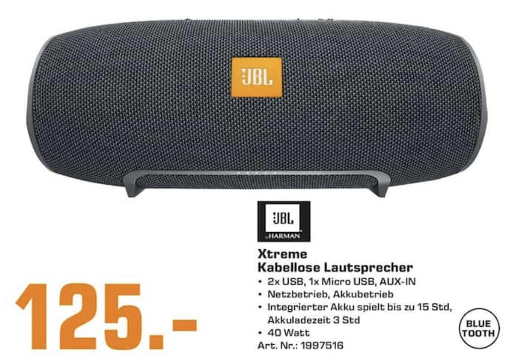 [Lokal: Saturn Trier] JBL Xtreme Bluetooth Lautsprecher Black | JBL Flip 3 Stealth @59€ | Sony PlayStation VR Set V2 + Worlds @195€ | u.a.