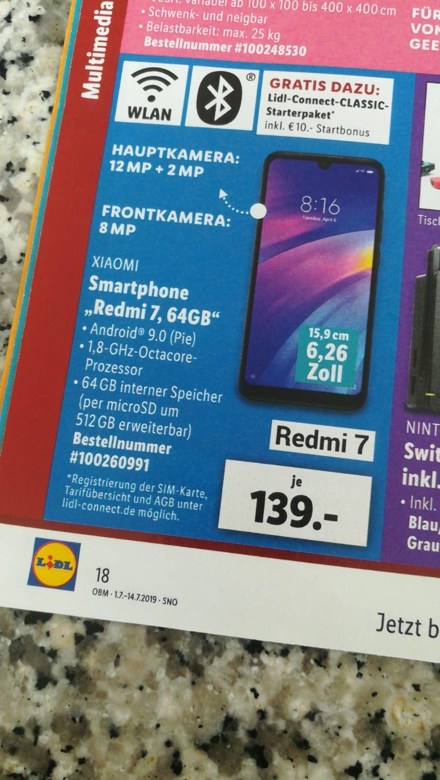 (Lokal?) Lidl - Xiaomi Redmi 7 aus Deutschland
