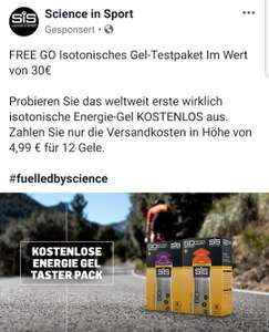 Science in Sport Isotonic Gel Test Paket