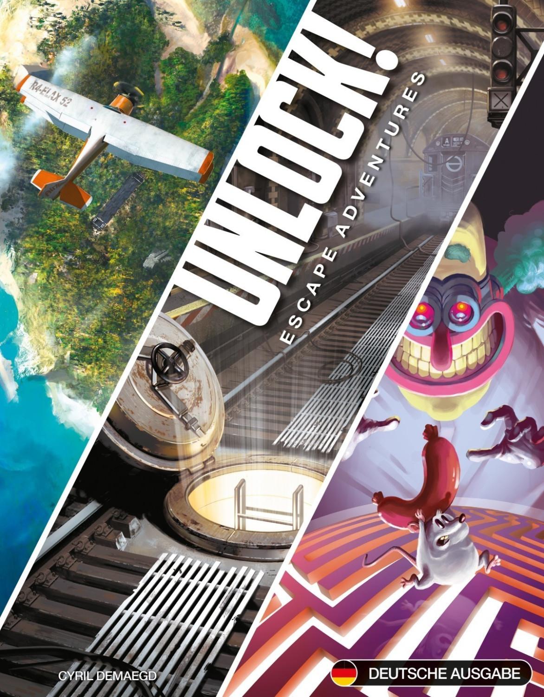 Unlock! Escape Adventures, Box 1 (3 Abenteuer à 60 Minuten, je 60 Karten, App erforderlich)