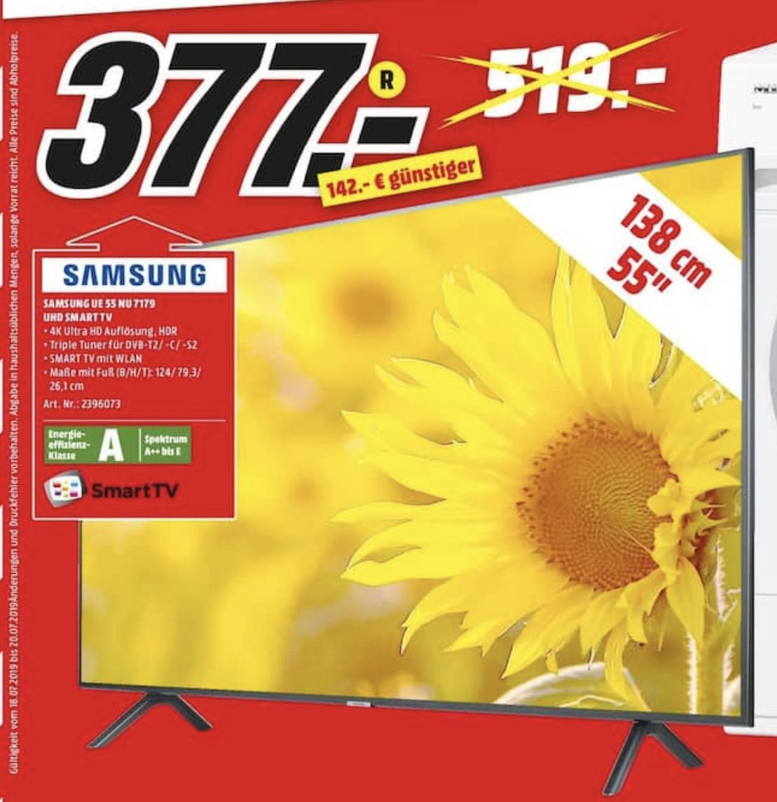 "[Lokal: Media Markt Karlsruhe Bulach] Samsung UE55NU7179 - 55"" 4K UHD Smart TV (VA, Edge LED, 60Hz, 8bit+FRC, 15ms Input Lag)"