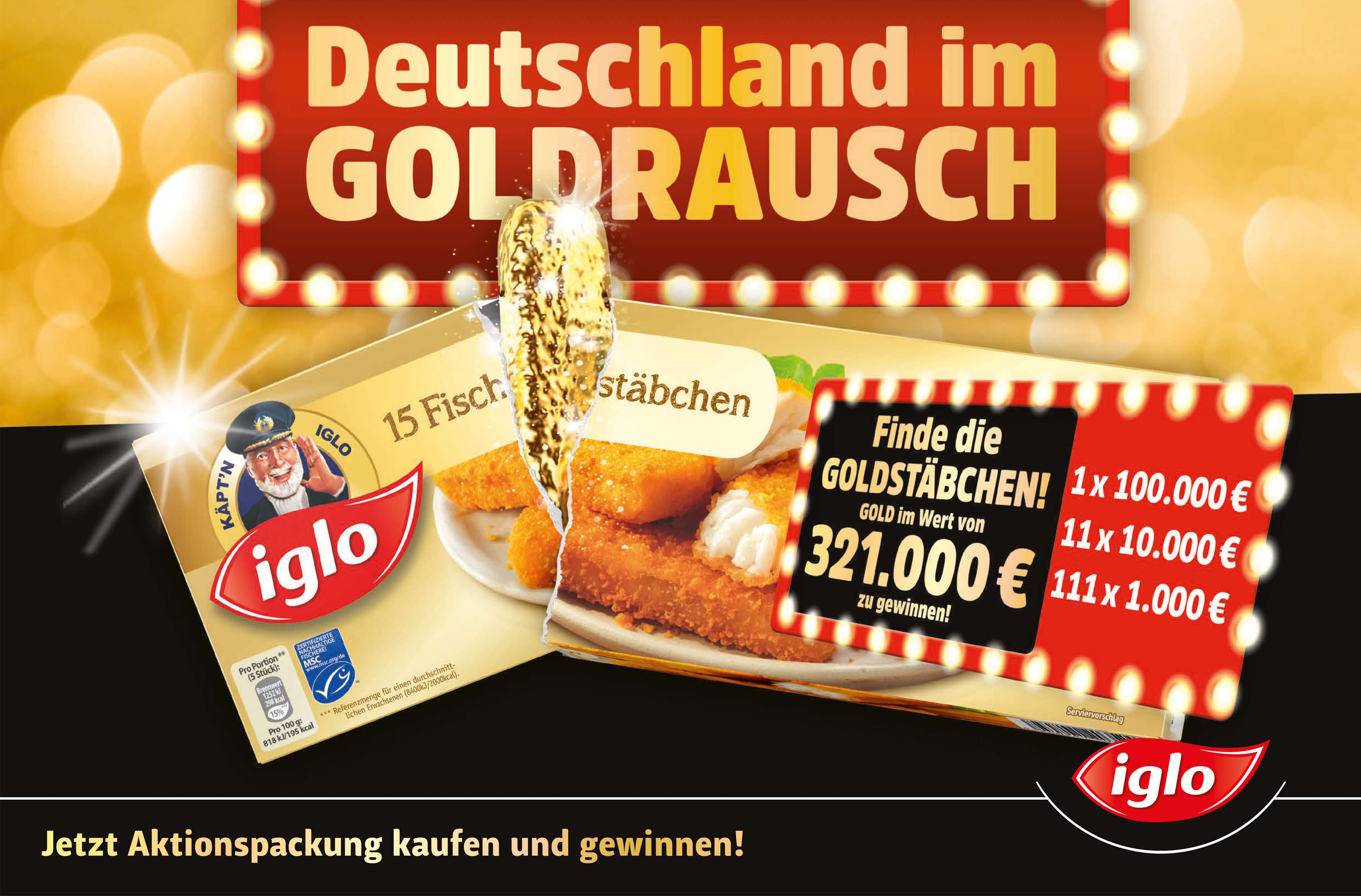 20€ mydays Gutscheine (MBW 49) als sicherer Sofortgewinn @ Iglo Fischstäbchen Aktionspackungen