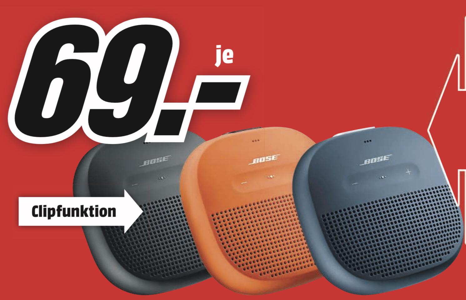 Lokal MediaMarkt Osnabrück: BOSE SoundLink Micro Bluetooth Lautsprecher Wasserfest für 69€