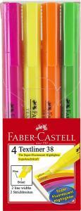 Faber-Castell Textmarker Textliner 38 4er-Packung für 1,99€ (Müller)