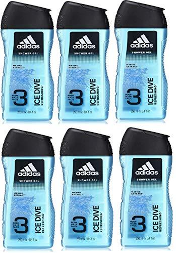 Amazon Prime: Adidas Ice Dive 3-in-1 Duschgel 6er-Pack  (Stück 1,39€ pro 250ml)