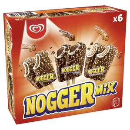 Langnese Nogger Mix Eis (inkl. Choc) bei [Edeka R-R ab 22.07.] für 1,79€ & [Netto MD - 22.07. & Aldi Süd - 26.07.] für 1,99€