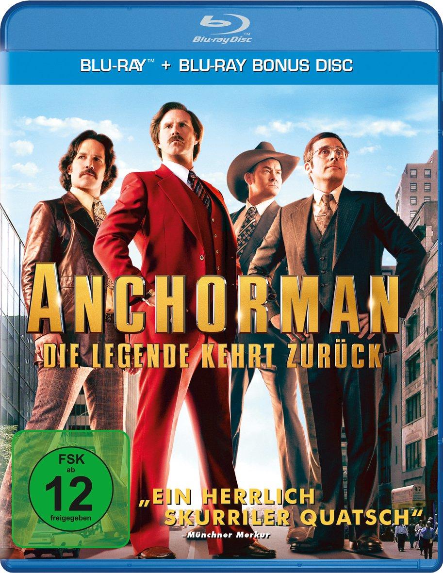 Anchorman - Die Legende kehrt zurück (Blu-ray + Bonus Blu-ray) für 4,99€ (Müller)