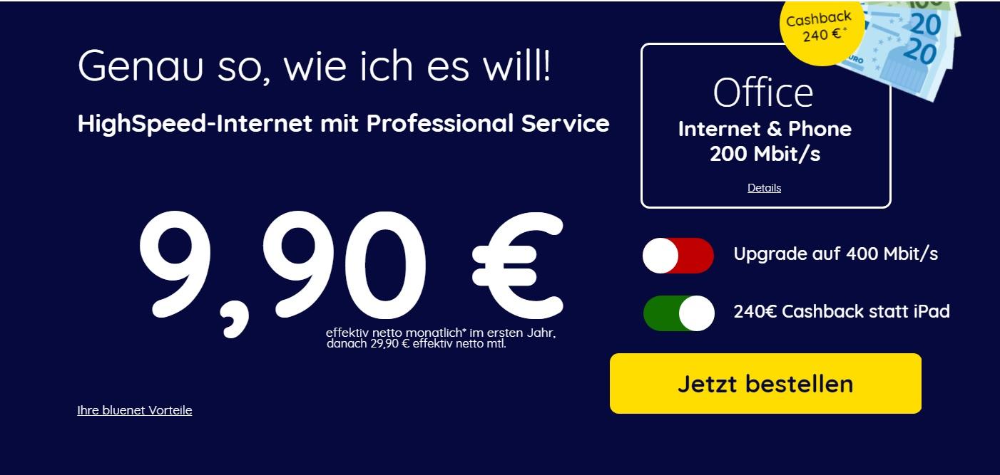 [bluenet] Unitymedia Office Internet&Phone 200 + Empfehlung für effektiv 15,34 €/ Monat inkl Fritzbox 6490 [auch für Privatkunden]