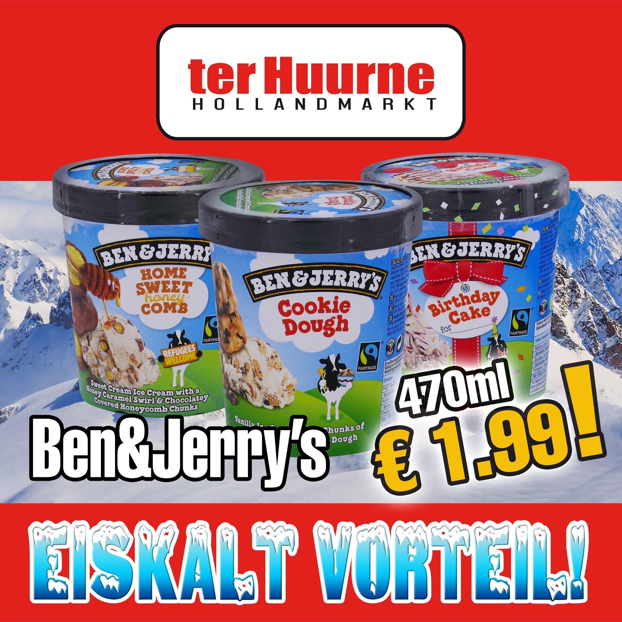 [Lokal; Grenzgänger NL] Ben & Jerry's verschiedene Sorten bei Ter Huurne