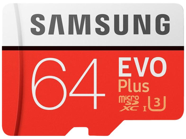 Samsung Evo Plus 64GB microSDXC Speicherkarte (Class 10, U3, 100 MB/s Lesen, 60 MB/s Schreiben) für 10€