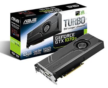 Asus GeForce GTX 1070Ti Turbo 8GB GDDR5 Grafikkarte DVI/HDMI/3xDP