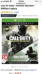 Call of Duty Infinite Warfare (Legacy Edition) mit Modern Warfare Remastered Xbox One Amazon.fr