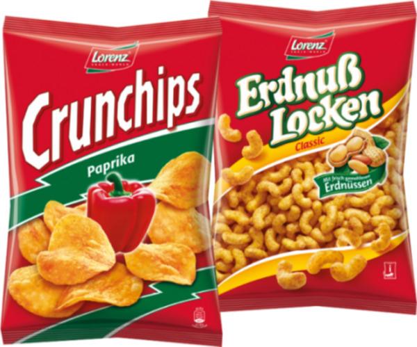 [Müller] Lorenz Crunchips 150/175g und Erdnuss Locken 200/225g für 85 Cent