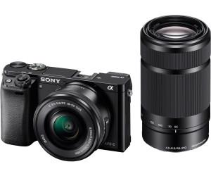 Sony Alpha 6000 Systemkamera im DoubleKit inkl. SEL-P 16-50 mm und SEL 55-210 mm Objektiv