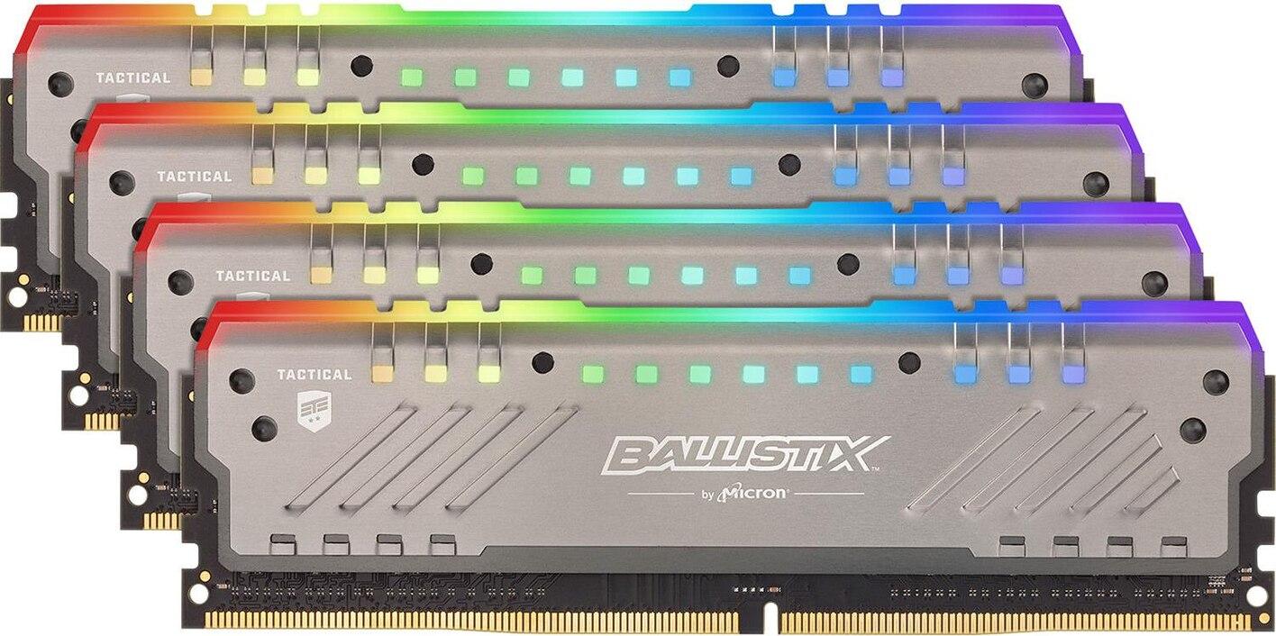 32GB Crucial Ballistix Tactical Tracer RGB (4x, 8GB, DDR4-3000, DIMM 288)