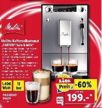 [Lidl ab 29.07] Melitta E953-102 Caffeo Solo & Milk Espresso-/Kaffeevollautomat silber für 199,-€ *Auch Online*