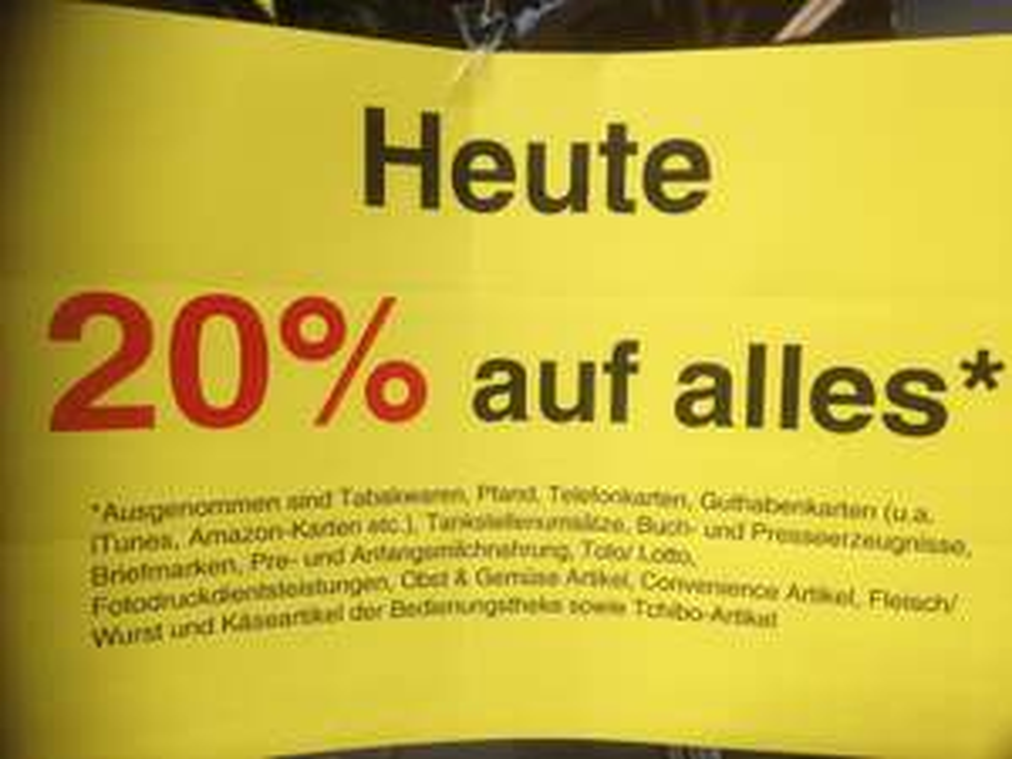 20% auf alles bei EDEKA (Freiburg Günterstalstraße)
