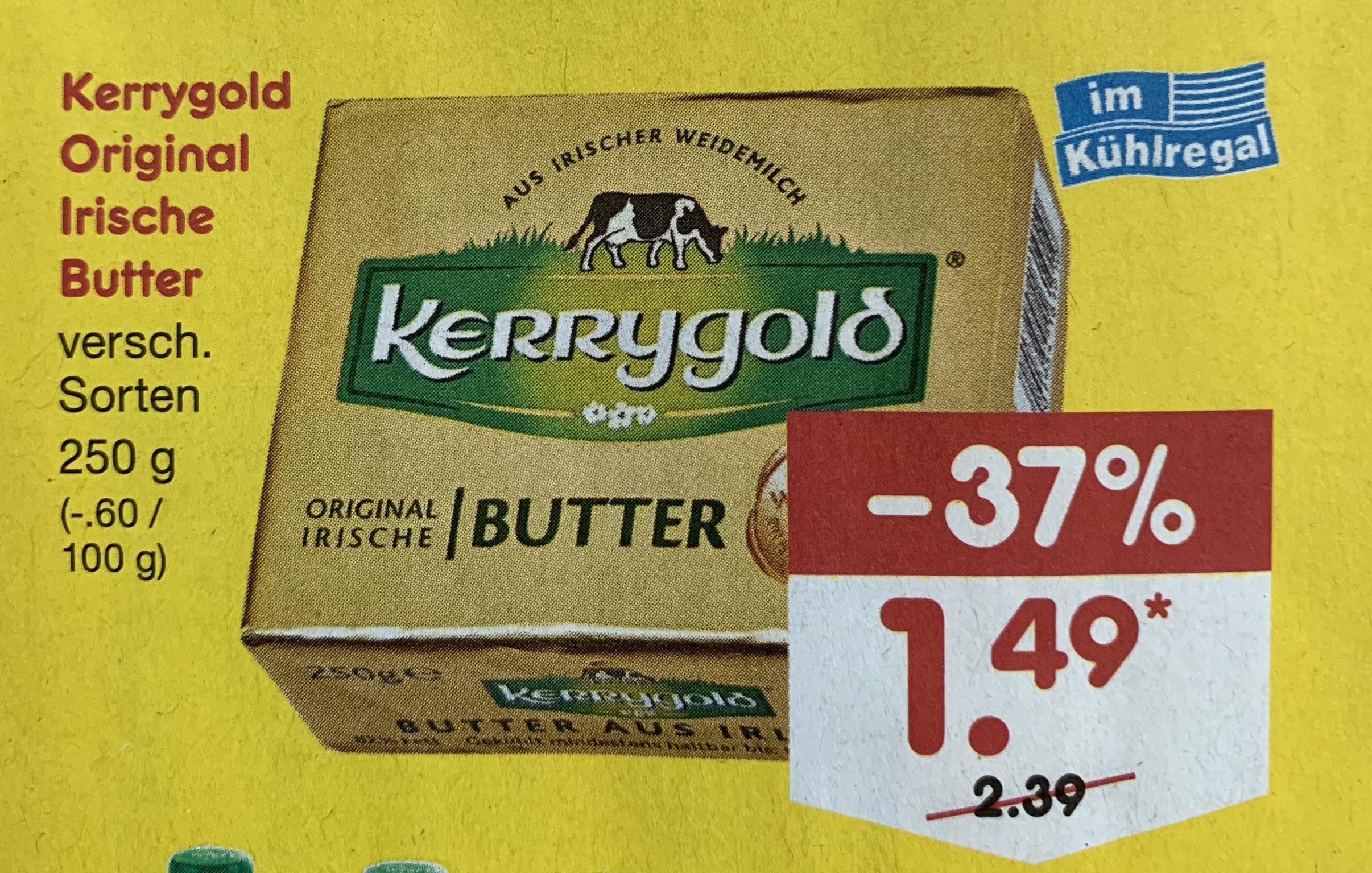 [Netto MD] Kerrygold Original Irische Butter für 1.49€ ab Montag 22.07.2019