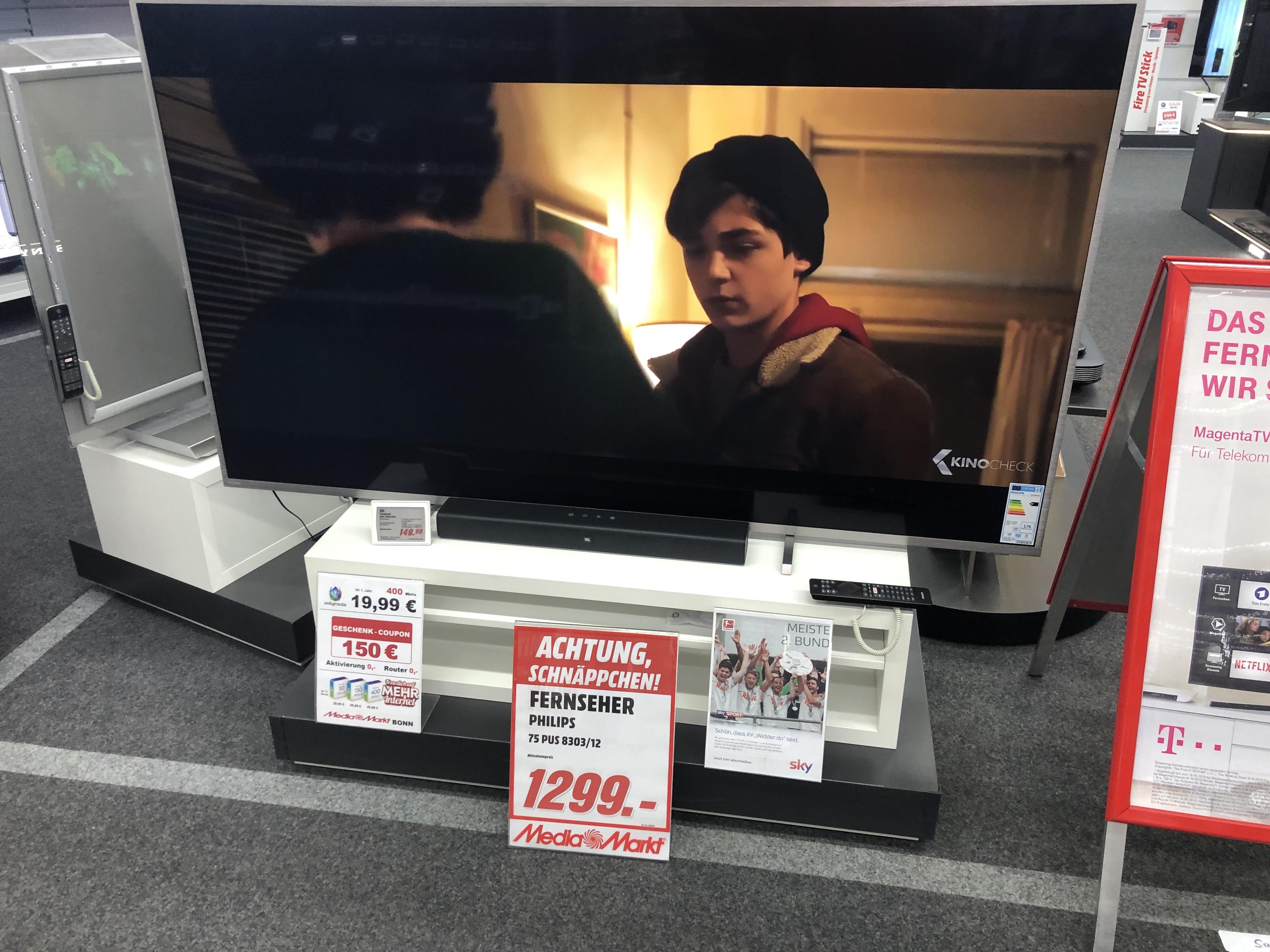 [Lokal MediaMarkt Bonn] Philips 75PUS8303 LED TV