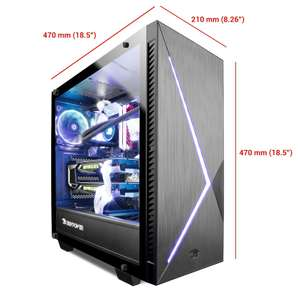 Gaming PC [konfigurierbar] Intel i7-9700K, RTX 2070 Super, Z390, AiO WaKü 120 RGB, 16GB DDR4-3200 RGB, MX500 500GB m.2 SSD, 700W BeQuiet