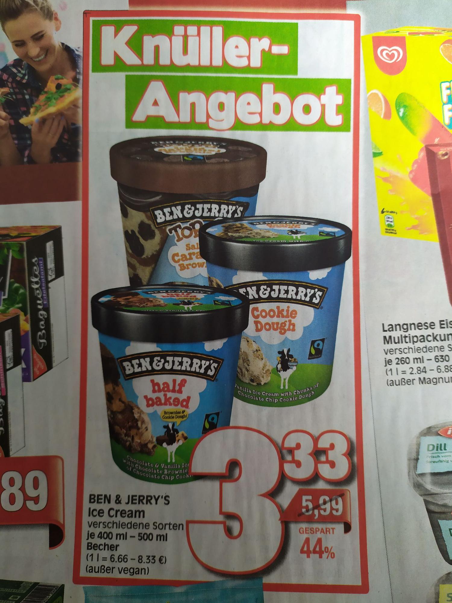 [Lokal Ratio Kassel/Baunatal] Ben & Jerry's Ice Cream 400/500ml