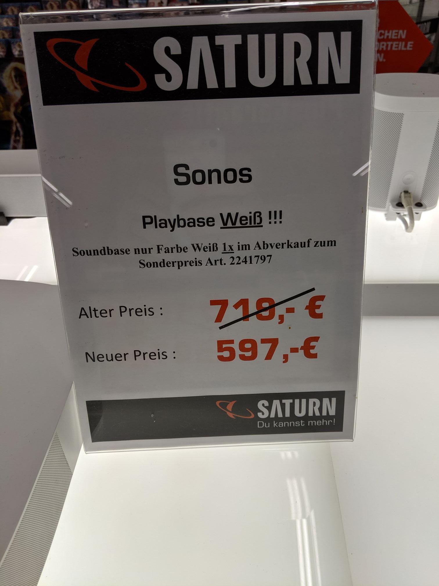 [Saturn Leipzig Hbf] Sonos Playbase weiß WLAN Multiroom Lautsprecher