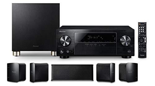 Pioneer HTP-074(B) 5.1 Heimkinosystem mit AV Receiver und Lautsprecher Set (100 W/Kanal, Multiroom, Dolby TrueHD Schwarz) *Vorbestellung*