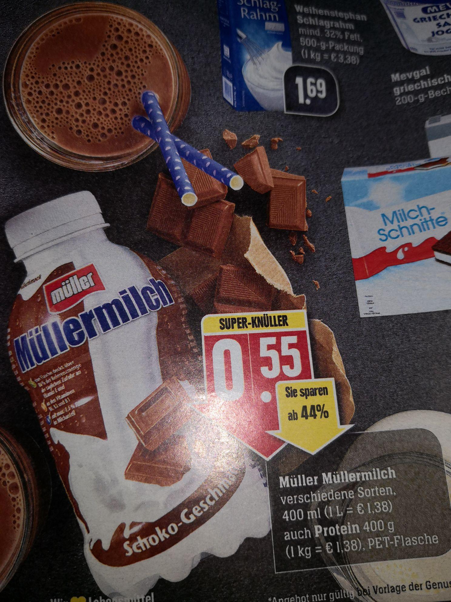 LOKAL Müller Milch verschiedene Sorten 400 ml oder Gramm, auch Protein bei Edeka Südwest und E-Center