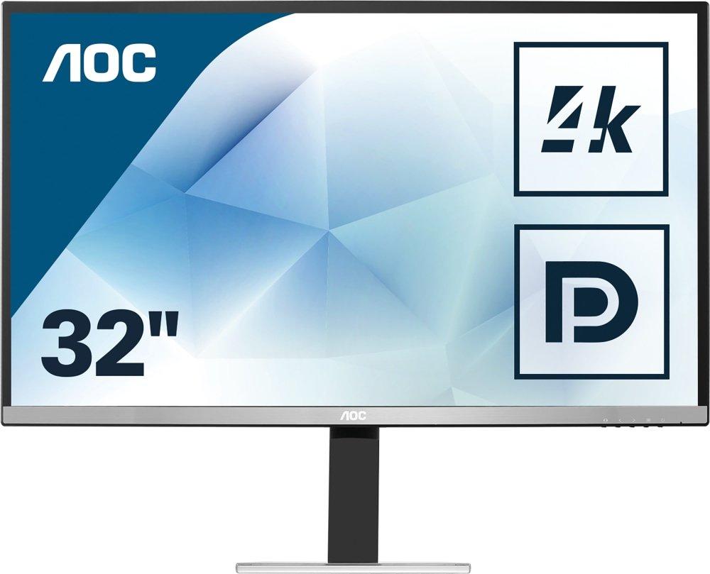 """AOC U3277FWQ - 31,5"""" Ultra HD 4K Monitor (3840x2160, 4ms, VA-Panel, 10bit, 100% sRGB, 60 Hz, HDMI, DP, VESA)"""