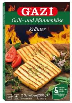 (Edeka) Gazi Grill- und Pfannenkäse Kräuter, 200gr.