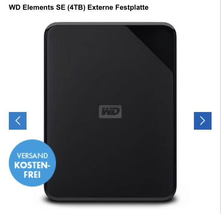 WD Elements SE (4TB) Externe Festplatte