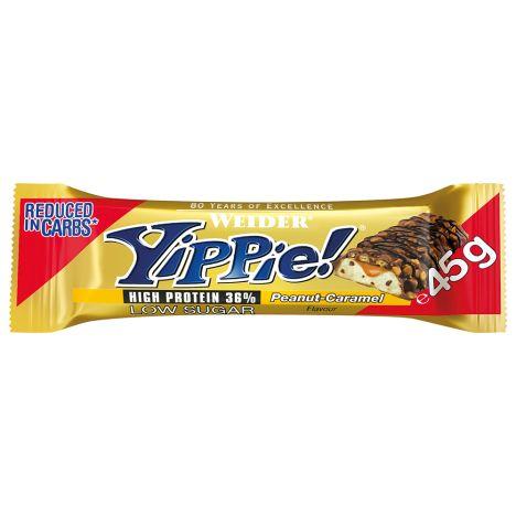 YIPPIE! Bar - 12x 70g Erdnuss Karamell MHD 30.09
