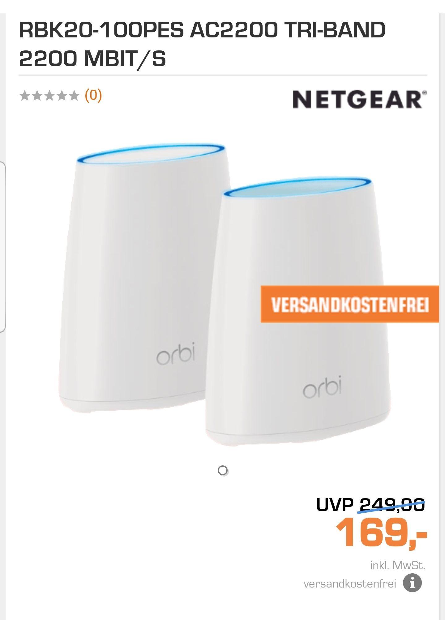 Netgear Orbi Mesh System RBK20