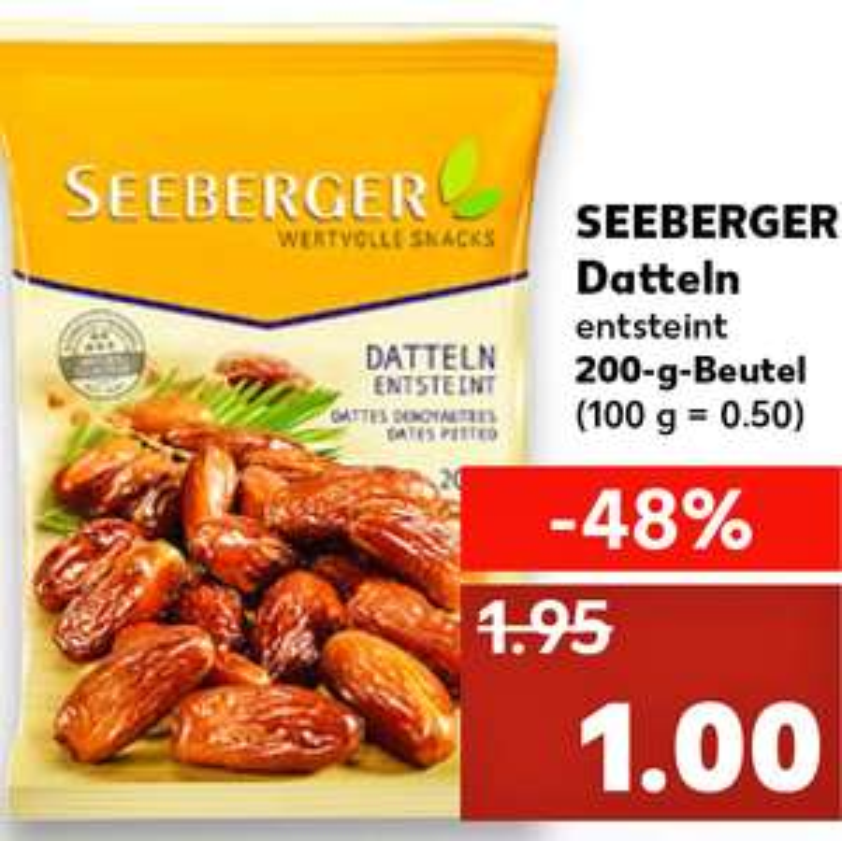Seeberger Datteln entsteint 200g für nur 1€ bei ( Kaufland )