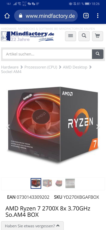 Ryzen 7 2700x Mindstar