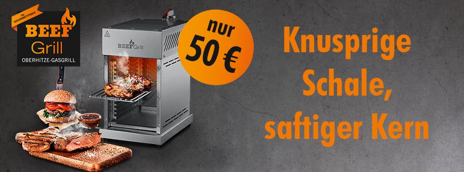 [Tedi offline bundesweit] Beef Grill Oberhitze Grill GOURMETmaxx bei Tedi im Angebot für 50€
