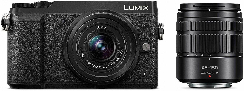 Panasonic LUMIX GX80 Kit mit 12-32mm und 45-150mm Objektiv - 4K, 5-Achsen-Körperstabilisierung, 3 Zoll Neigung und Touch-Display
